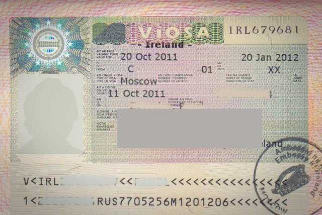 Порядок оформления визы в Ирландию для россиян