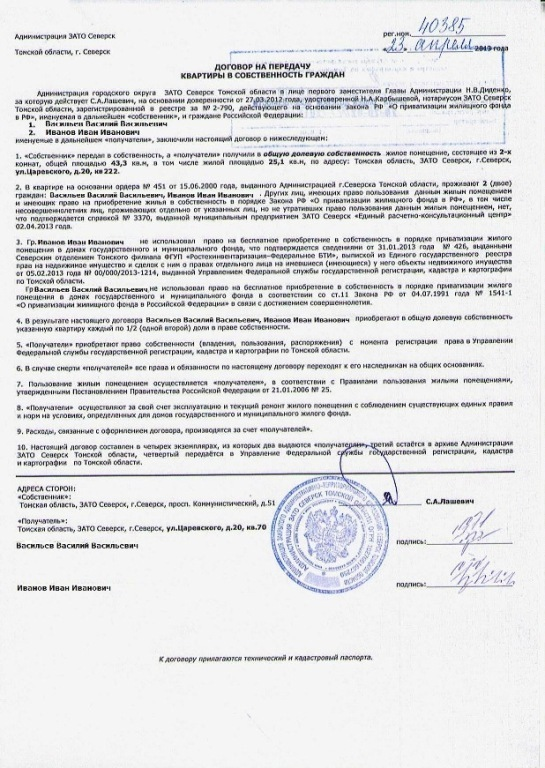 Перечень документов необходимых для приватизации квартиры