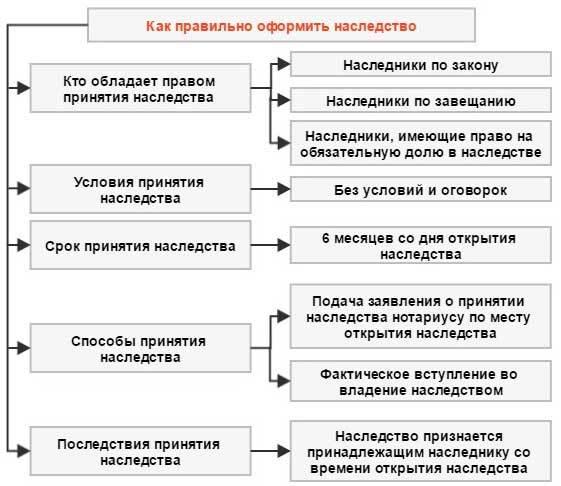 Сроки и условия для принятия наследства