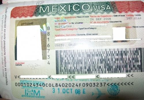 Порядок оформления визы в Мексику для россиян