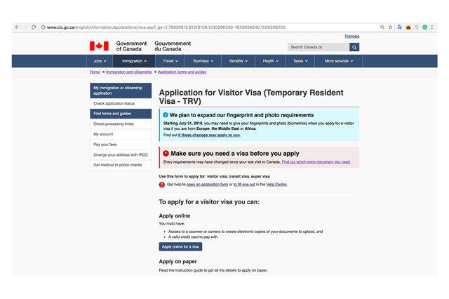 Как россиянам получить визу в Канаду